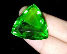 51.25 Ct Charming Certified Trillion Shape Brazilian Green Topaz For Sale