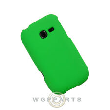 Samsung R480 Freeform 5 Shield Rubberized Neon Green Case Cover Shell Protector