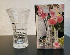 "Mikasa Crystal Bud Vase 4 3/4""  Monarchy Pattern #VZ006/612 Made In Japan"