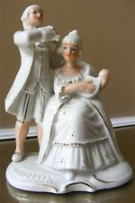 Vintage Violin Lyre Man and Woman Figurine Giorni Felici Angelina N and Crown