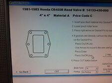 Honda CR450R  Reed Valve B Gasket  1981 1982 1983 14133-430-000
