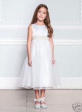 BNWT Age 9 Grace BHS IVORY PEARL BEAD Satin Bow Bridesmaid Flower Girl Dress £65