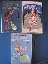 Les Aventures du Saint - Lot de 3 volumes - Leslie Charteris - Arthème Fayard
