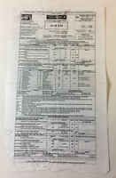 2013 Fox tv SLEEPY HOLLOW set used CALL SHEET~ Season 1 Episode 3