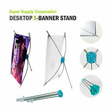 """10""""x15"""" Desktop Tabletop Countertop X Banner Stand for trade show store display"""