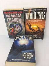 Roger MacBride Allen Sci Fi Books Lot 3 Pb Depths Of Time Ocean Years Charon