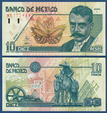 MEXIKO / MEXICO  10 Pesos 1994  Emiliano Zapata  UNC  P.105 a