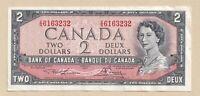 1954 $2 Bank of Canada Note Lawson Bouey V/G 6163232 - EF