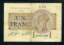 France 1 Franc Paris 1919 aVF