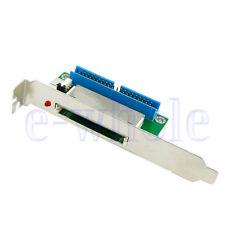 40Pin ATA IDE to Compact Flash CF Adapter Converter w/ PCI Bracket Back Panel K6