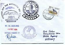 1994 Agulhas SANAE  Voyag 77 PAQUEBOT Weather Buoys Cape Town Polar Cover SIGNED