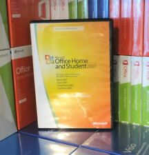 MICROSOFT OFFICE 2007 HOME AND STUDENT USED 3-USER DVD 79G-00874 100% GENUINE UK