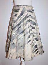 TULEH Grey Camouflage A-Line Cotton Skirt - Sz 6/M