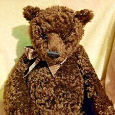 Gund MOhair Chocolae BRown Bear Ruffles 25 inches soft and cuddly