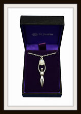 RAINBOW MOONSTONE GODDESS ~ PEWTER PENDANT NECKLACE ~ FROM ST. JUSTIN ~ FREE P&P