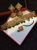 Brand New Indian Pakistani Bollywood Necklace Choker Earring  Set