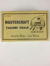 vtg Box Mastercraft No 1200 42 Pieces Black White Tailors Chalk