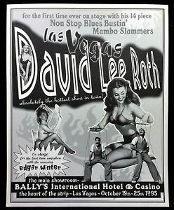 DAVID LEE ROTH Bally's Hotel Las Vegas 1995 Concert Poster VAN HALEN