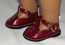 """18"""" American Girl Doll Dressy Shoes Burgundy Straps Accessories Clothes"""