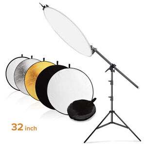 Studio Holder Bracket Swivel Head 5-in-1 Collapsible Reflector Arm Support Kit