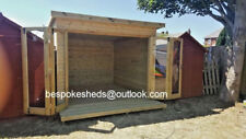 10x8 Bi Foldig Doors Pent Contemporary Summer house Hot Tub T&G Tanalised Shed