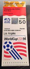 1994 World Cup Semi-Final Ticket:- Brazil v Sweden. Original. **RARE**