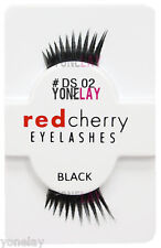 1 Pair GENUINE RED CHERRY Accent DS02 Sloan False Eyelashes DS 02 Half Lashes