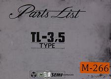 Mori Seiki TL-3, 5 Type, Machine Center Parts Manual