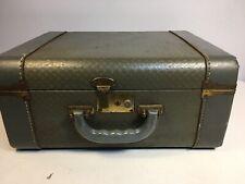 Vintage 1950's Era Gray Small Train Case / Luggage / Hardshell Noir Prop