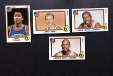 1987 Panini CARD Set Sticker Jabbar Magic Bird Thomas Basketball Supersport New