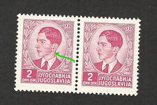 YUGOSLAVIA-MNH** PAIR-PLATE ERROR-EARRING - 1939.