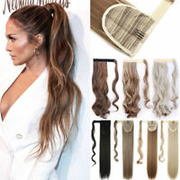 Claw Clip On Ponytail Thick Clip In Tail Hair Extensions As Human Hairpiece
