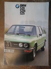 BMW 5 SERIES orig 1974 German Mkt Sales Brochure Prospekt - 520 520i 525