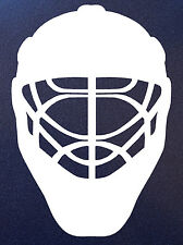 GOALIE MASK Ice Hockey Player Goal Helmet Vinyl Car Window Decal Bumper Sticker