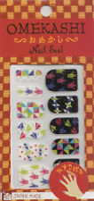 Japanese Nail Art Stickers Set 12 Mini File Made in Japan Origami Design
