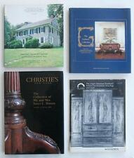 Four (4) Auction Catalogs Including Furniture From American Collections No Res.!