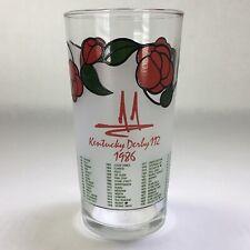 Vtg 1986 Kentucky Derby Churchill Downs Mint Julep Glass Tumbler Libbey Glass
