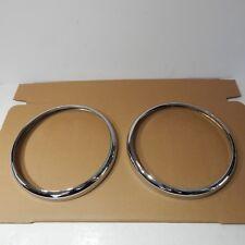 Brand New Chrome Light Headlight Headlamp Rim Trim Ring MGB 1963-1979 Pair