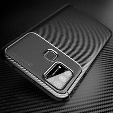 COVER per Samsung Galaxy A21s A41 A51 A71 A30S A20S CARBONIO + VETRO TEMPERATO