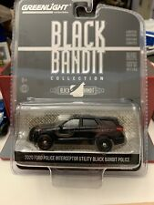Greenlight 2020 Ford Police Interceptor Utility Black Bandit Police