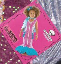 TeeTot Princess Factory Mermaid Costume Sz 3-4 New Dress Cape Jewelry Hair Decor