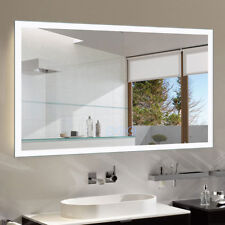 Horizontal Dimmable LED Light Bathroom Vanity Wall Mirror with Bluetooth Antifog