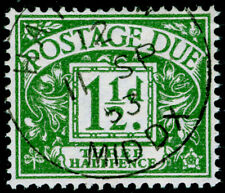 SGD37, 1½d green, FINE USED.