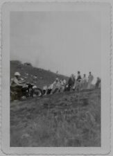OLD PHOTO MAN ON MOTORCYCLE CROWD  MOTORCYCLE RACING LAKEWOOD NEW JERSEY 1930S