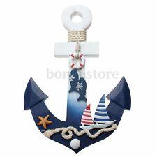 New Wooden Nautical Anchor Wall Hanging Hook Ship Starfish Decor Coat Door Rack