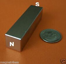 2 RARE EARTH 1/2 IN X 1/2 IN X 2 IN LONG NEODYMIUM  BAR MAGNET N42