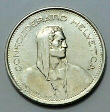 1966-B Swiss 5 FR Confoederatio Helvetica Coin Silver P.Bvrkhard.Inc. No Reserve