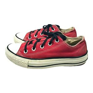 Converse All Star M9696 Low Top Shoes Women Size 6 Red Athletic Red Shoes .