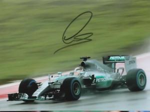 Lewis Hamilton signed photo. Mercedes 2015.  COA. 15X21