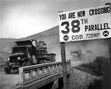 New 11x14 Korean War Photo: U.N. Forces Cross the 38th Parallel in Retreat, 1950